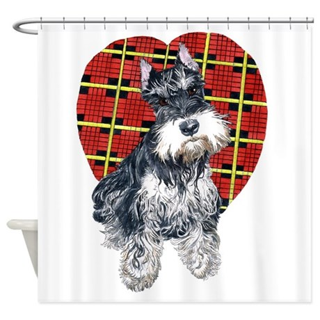 Syble the Schnauzer Shower Curtain