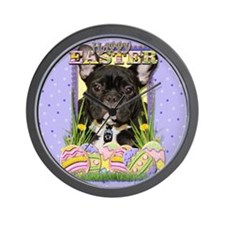 Easter Egg Cookies - Frenchie Wall Clock