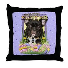 Easter Egg Cookies - Frenchie Throw Pillow
