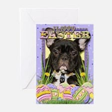 Easter Egg Cookies - Frenchie Greeting Cards (Pk o