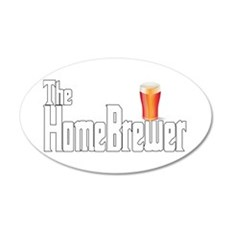 The HomeBrewer Ale 22x14 Oval Wall Peel
