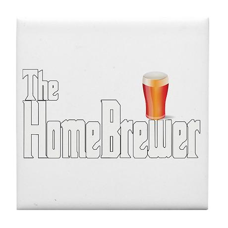 The HomeBrewer Ale Tile Coaster