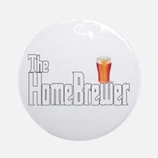The HomeBrewer Ale Ornament (Round)