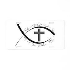 jesus fish Aluminum License Plate