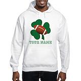 Custom name shamrock Hooded Sweatshirt