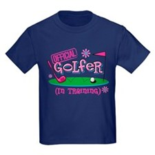 Girl Golfer In Training T