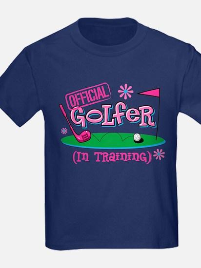 Girl Golfer In Training T