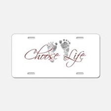 Choose Life Aluminum License Plate