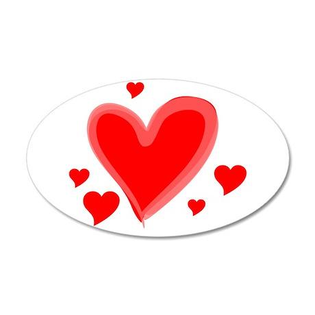 Thee Love Shoppe 38.5 x 24.5 Oval Wall Peel
