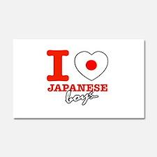 I love Japanese boys Car Magnet 20 x 12