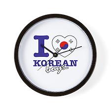 I love Korean boys Wall Clock