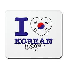 I love Korean boys Mousepad