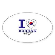 I love Korean boys Decal