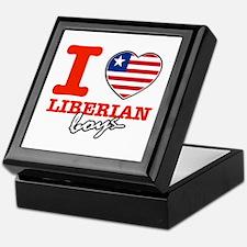 I love Liberian boys Keepsake Box