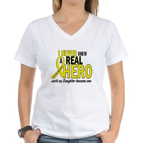 Real Hero Sarcoma Women's V-Neck T-Shirt