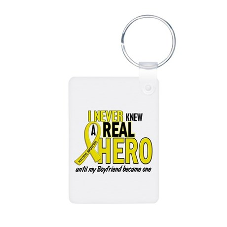 Real Hero Sarcoma Aluminum Photo Keychain