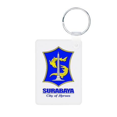 """Surabaya"" Aluminum Photo Keychain"