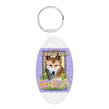 Easter Egg Cookies - Dingo Aluminum Oval Keychain