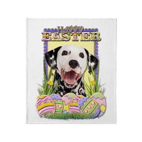 Easter Egg Cookies - Dalmatian Throw Blanket