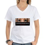 Dachshund Security Service Women's V-Neck T-Shirt