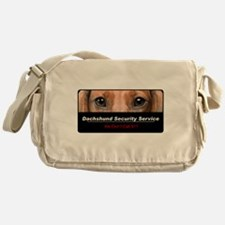 Dachshund Security Service Messenger Bag