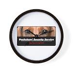 Dachshund Security Service Wall Clock