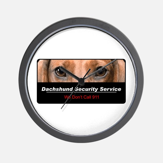 Dachshund Security Service Wall Clock