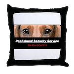 Dachshund Security Service Throw Pillow