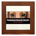 Dachshund Security Service Framed Tile