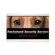 Dachshund Security Service Rectangle Magnet