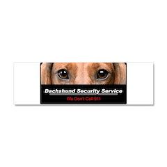 Dachshund Security Service Car Magnet 10 x 3
