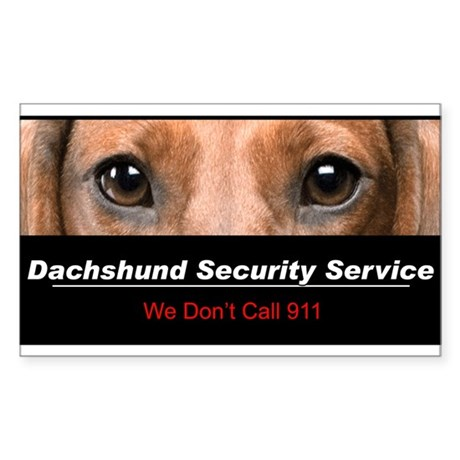 Dachshund Security Service Sticker (Rectangle)
