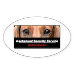 Dachshund Security Service Sticker (Oval 50 pk)
