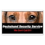 Dachshund Security Service Sticker (Rectangle 10 p