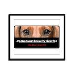 Dachshund Security Service Framed Panel Print