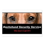 Dachshund Security Service Postcards (Package of 8