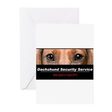Dachshund Security Service Greeting Cards (Pk of 1