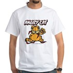 ANGRY CAT White T-Shirt