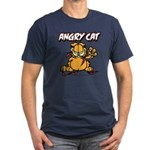 ANGRY CAT Men's Fitted T-Shirt (dark)