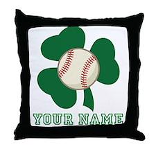 Personalized Irish Baseball Gift Throw Pillow