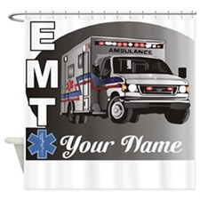 Custom Personalized EMT Shower Curtain