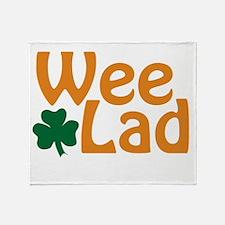 Wee Lad Shamrock Throw Blanket