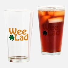 Wee Lad Shamrock Drinking Glass