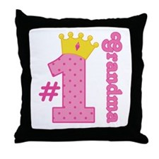 Number One Grandma Gift Throw Pillow
