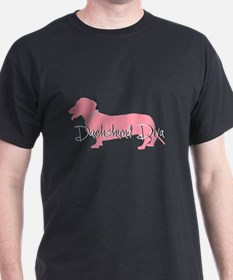 Diamonds Dachshund Diva T-Shirt