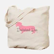 Diamonds Dachshund Diva Tote Bag