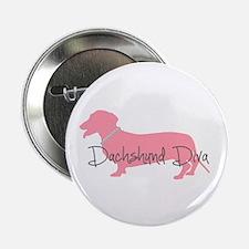 "Diamonds Dachshund Diva 2.25"" Button"