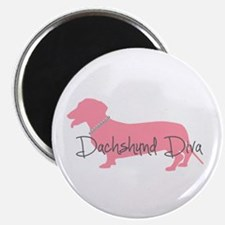 Diamonds Dachshund Diva Magnet