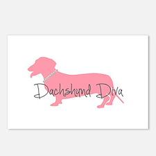Diamonds Dachshund Diva Postcards (Package of 8)