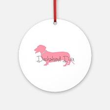 Diamonds Dachshund Diva Ornament (Round)